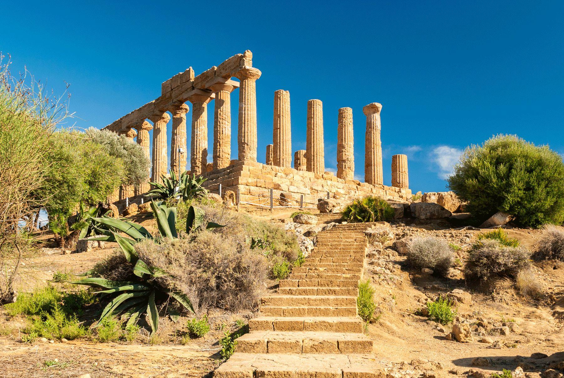 Tempel der Juno Tal der Tempel Agrigento iStock493372496 web